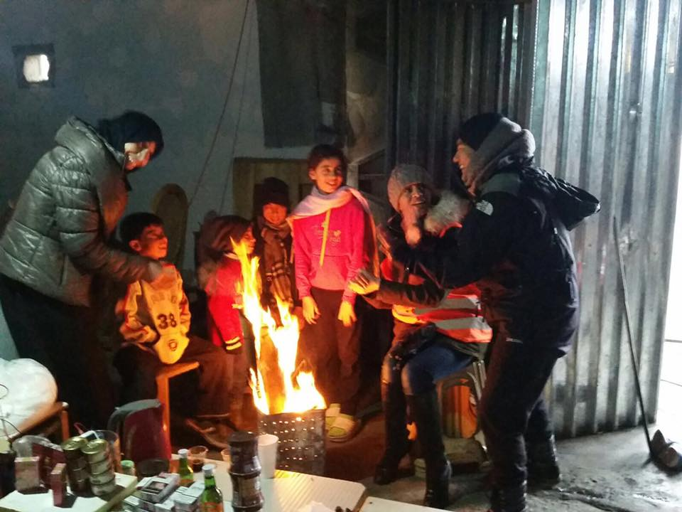 visiting refugees greece