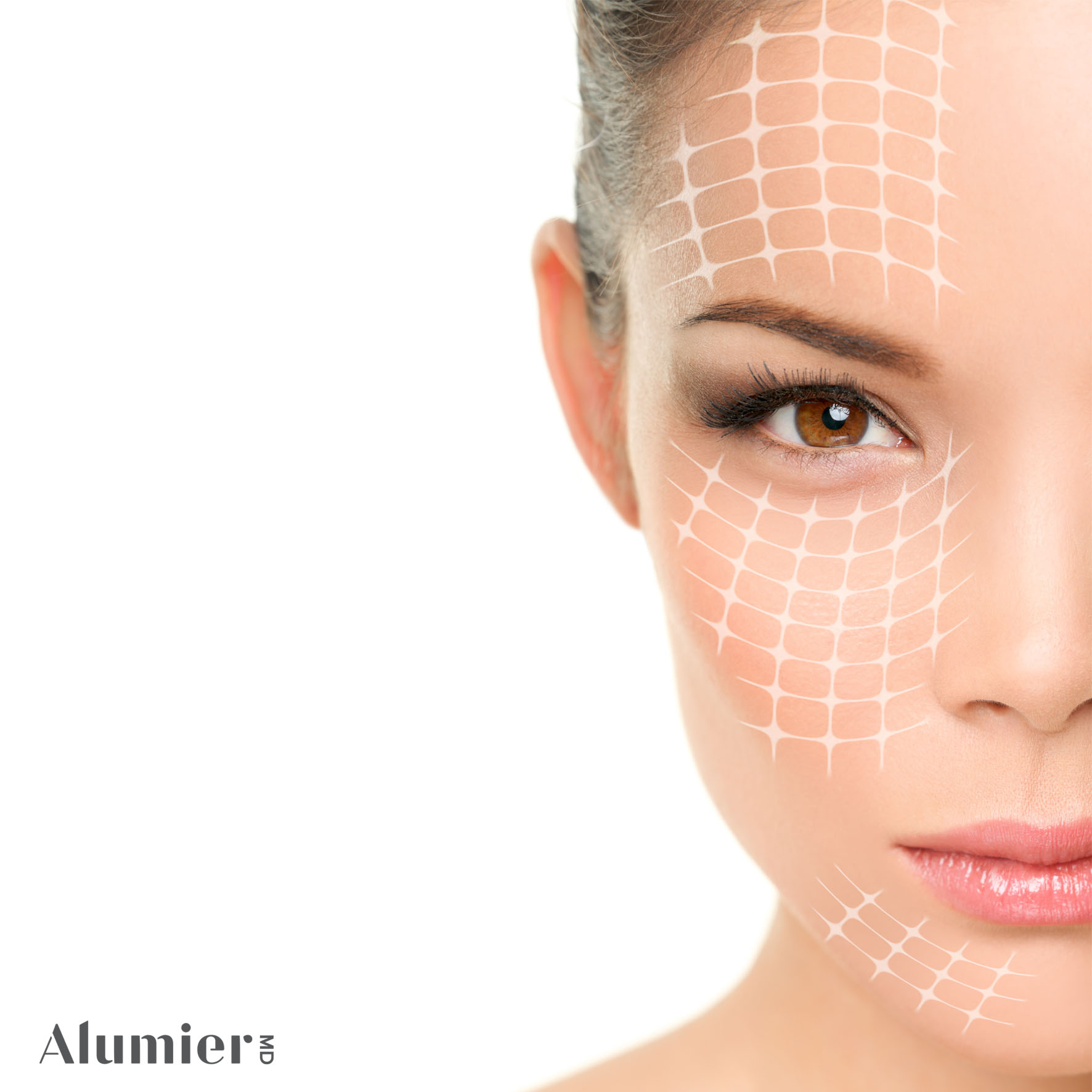 Targeted areas on a face